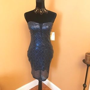 NWT Trixxi strapless sequin dress size 5